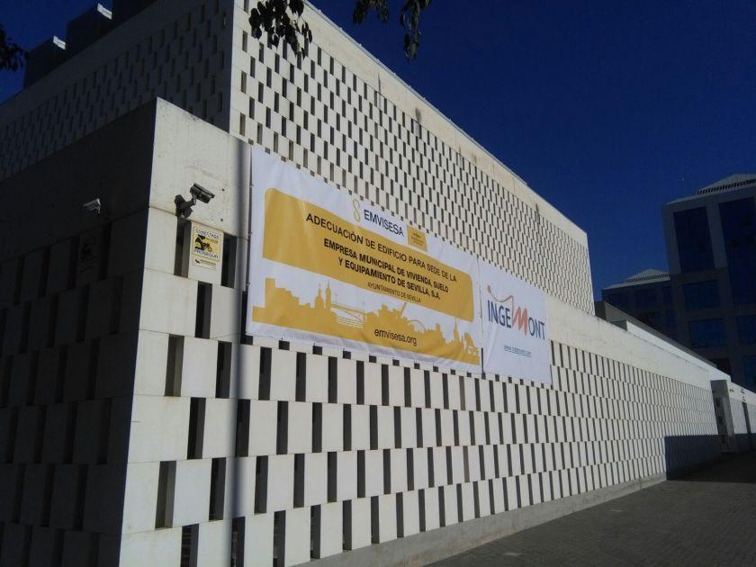 Obras de adecuación del edificio sede de Emvisesa en el Parque Empresarial Arte Sacro.