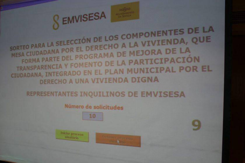 El número seleccionado en el cupo de inquilinos de Emvisesa ha sido el 9.