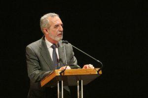 Juan Manuel Flores, delegado de Bienestar Social y Empleo, en un momento de su intervención.