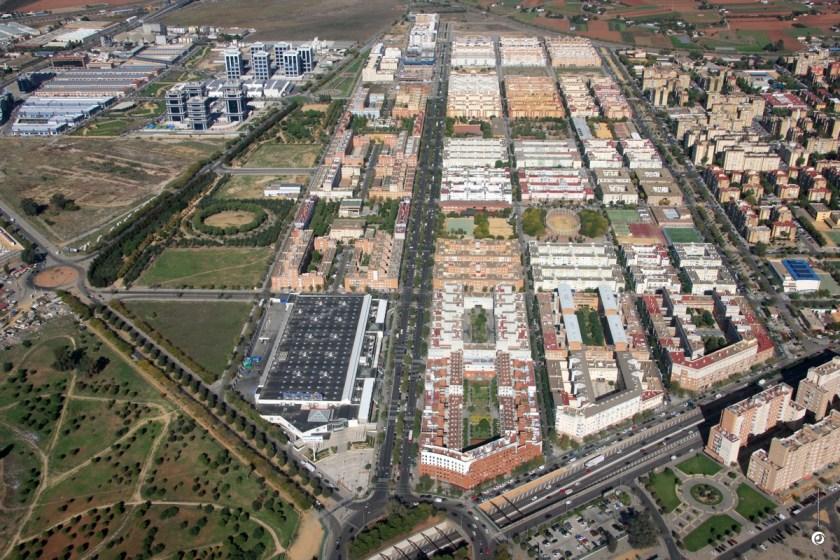 Pino Montano, vista aérea.