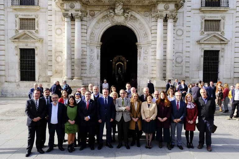 Foto de familia Plan Estratégico Sevilla 2030.