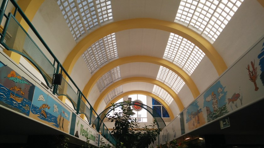 Bóveda del mercado de abastos de El Arenal.