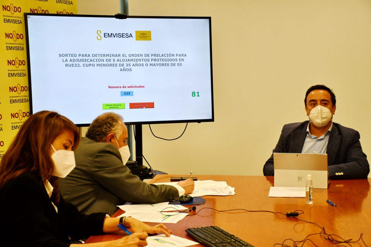 Emvisesa publica el orden de prelación en la convocatoria para adjudicar 10 alojamientos colaborativos en régimen de alquiler en RUE32, tras la celebración del sorteo ante notario