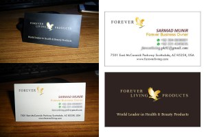 Visiting card made by emyoo solutions
