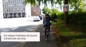 tourner à droite code de la route danois à vélo