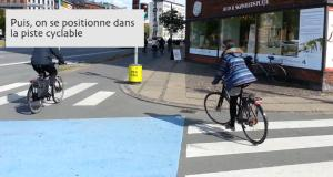 tourner à gauche code de la route danois à vélo