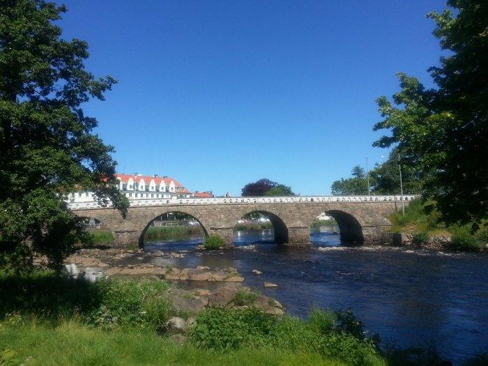 Tullbron, le plus beau pont en pierre de Suède, Falkenberg