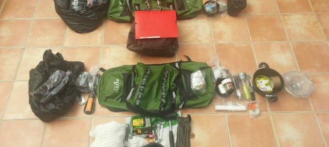 Rangement du matériel dans les sacoches