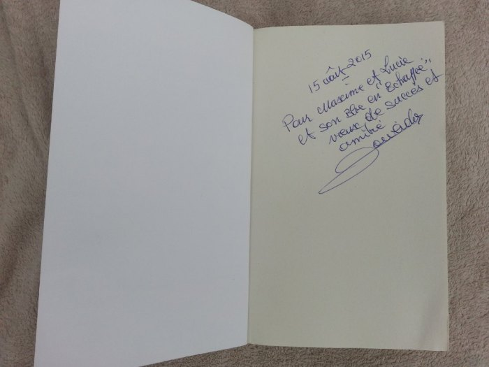 Dédicace Raymond Poulidor autobiographie En Echappée