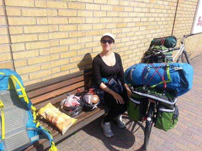 Pique-nique voyage à vélo Scandinavie