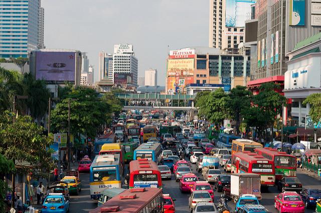 Ambiance dans Bangkok