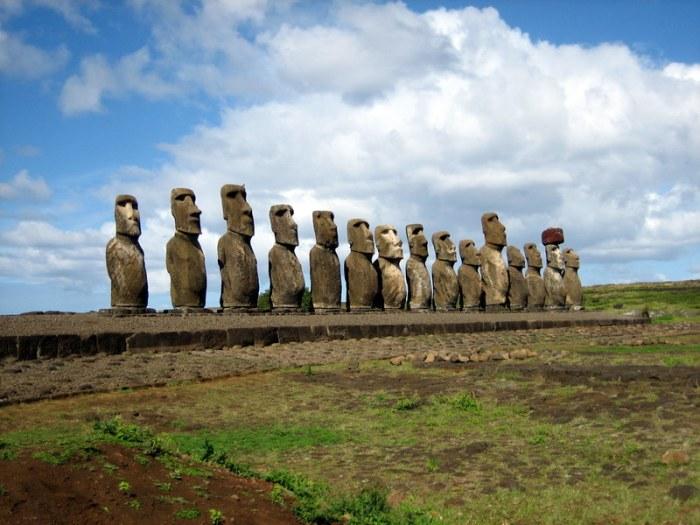 Statues Moai Ile de Paques