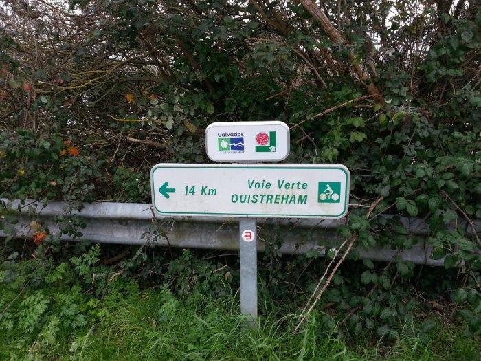 Signalisation de la voie verte