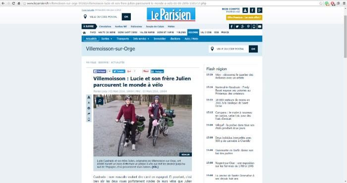 L'article en ligne (source : Le Parisien.fr)