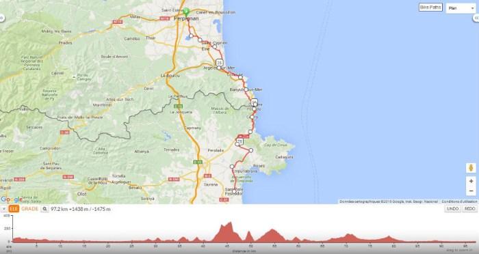 Itinéraire voyage vélo Perpignan Sant-Pere-Pescador