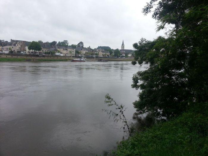 Ingrandes, sur l'autre rive de la Loire