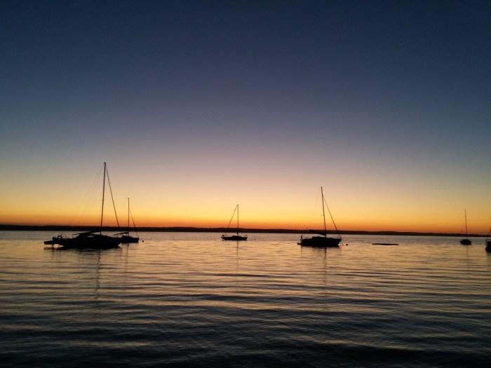 coucher de soleil au bivouac