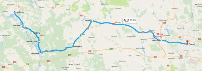 lubikowo-poznan à vélo