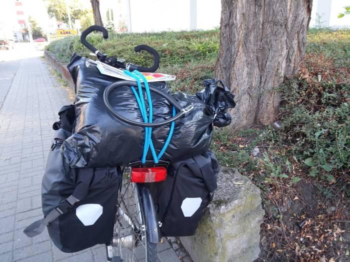 Le vélo chargé