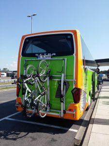 Les porte-vélos de l'autocar