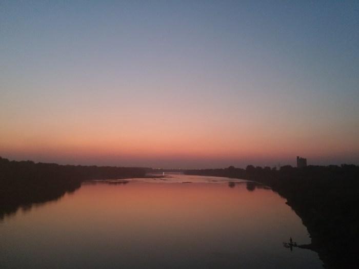 Coucher de soleil sur Varsovie