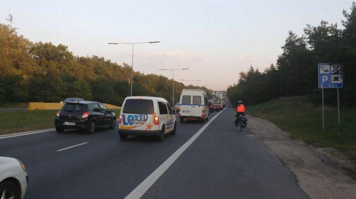 Entrer sur Varsovie à vélo