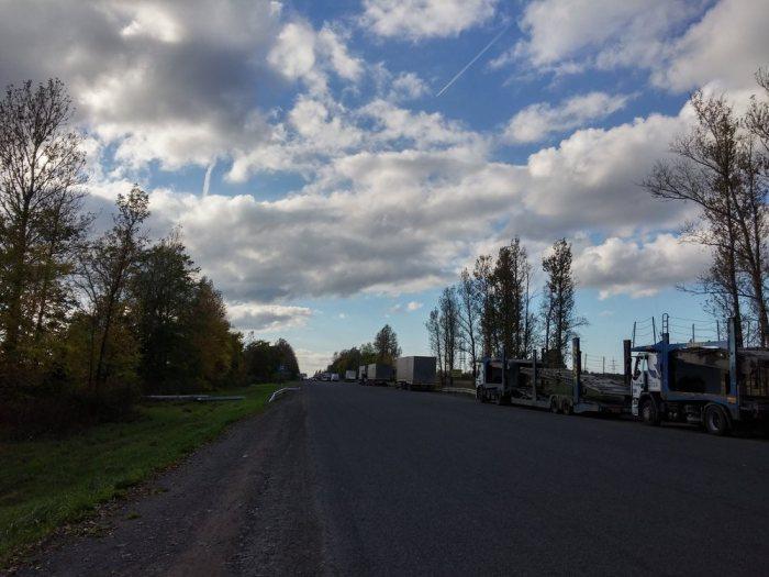 Route russe sans marquage au sol