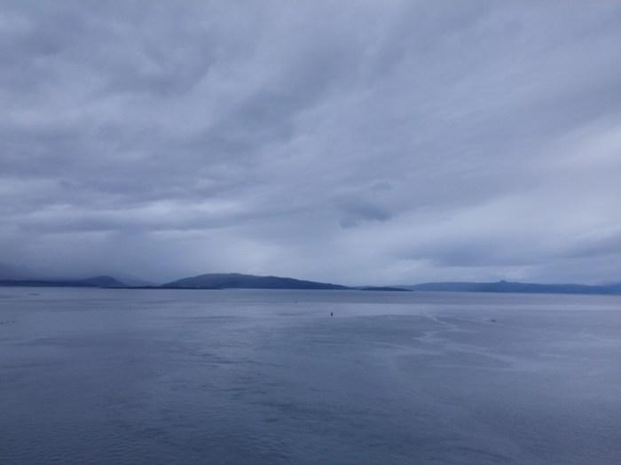 vue du pont de skye paysage bleu