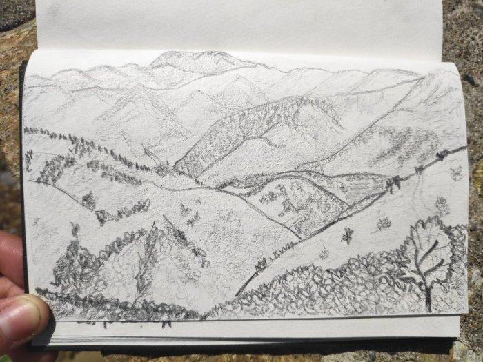 dessin-montagnes-albanie
