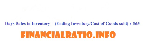 Days Sales in Inventory Formula