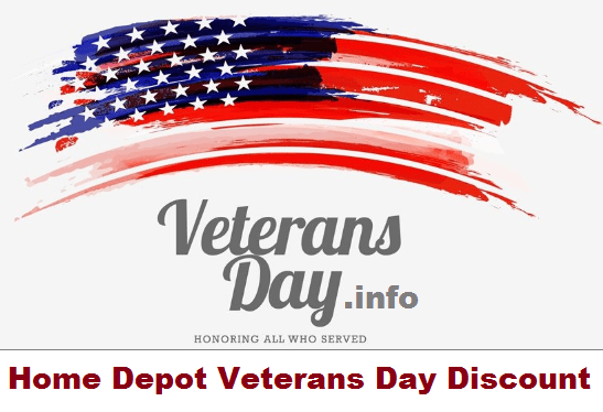 Home Depot Veterans Day Discount Policy 2020