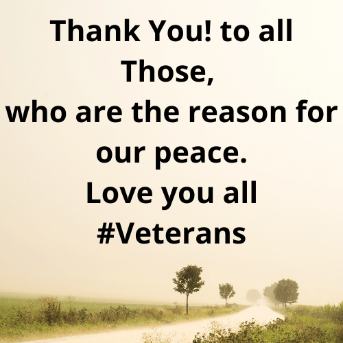 Thank You Messages Veterans Day 2021