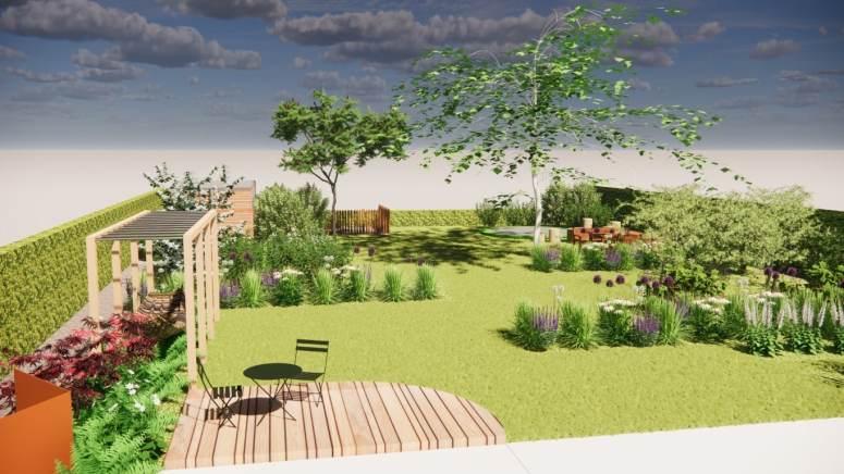 Renovatie van de achtertuin in Kessel-Lo