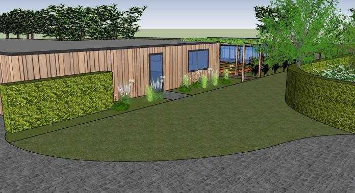 atelier en tuinberging