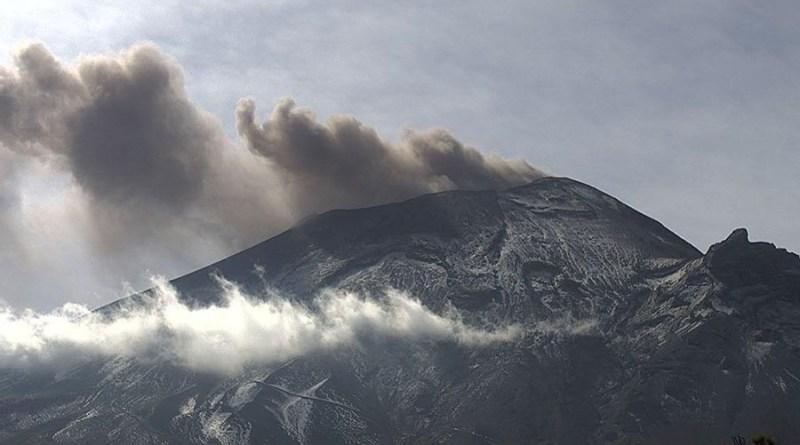 Dispersó Popocatépetl ceniza al Este-Noreste: PC Estatal