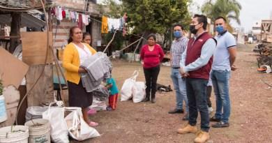 Gobierno de San Andrés Cholula dan seguimiento a familias afectadas por lluvias