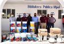 Entrega Luis Alberto Arriaga materiales de mantenimiento en Acuexcomac