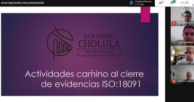 Avanza San Pedro Cholula en proceso para certificación ISO 18-091