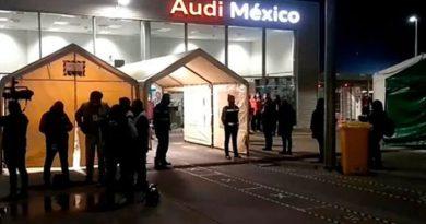San José Chiapa intenta clausura de Audi México con fuerza pública