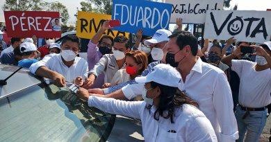 Exige Eduardo Rivera pruebas a Claudia por acusaciones de ambulantes