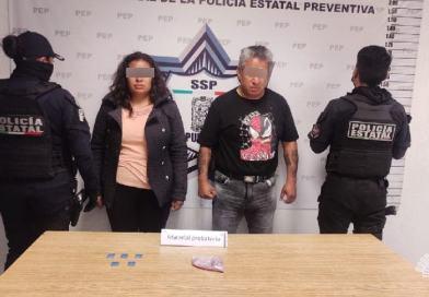 Presuntos narcomenudistas detenidos por la Policía Estatal
