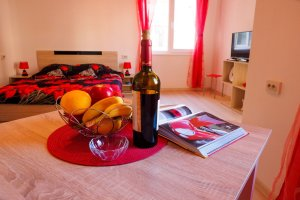 Luxury Apartment for Rent in Blagoevgrad Bulgaria in Red and White Slider