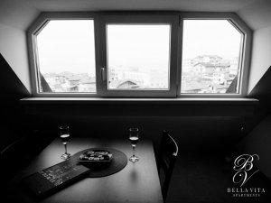 Luxury Rental in Blagoevgrad Bulgaria Black and White View
