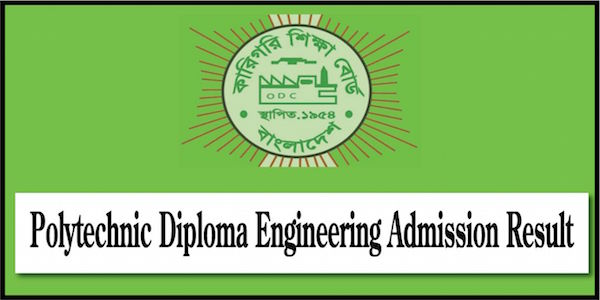 Polytechnic Diploma Admission Result 2019-20