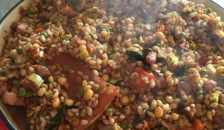 RECIPE: Chicken & Legumes Casseroel with Chestnuts