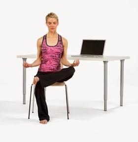 chair yoga lotus pose