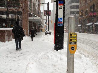 Toronto sidewalk in Winter