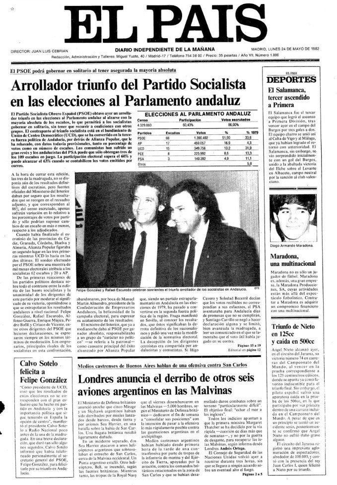 El País 1982 Escuredo
