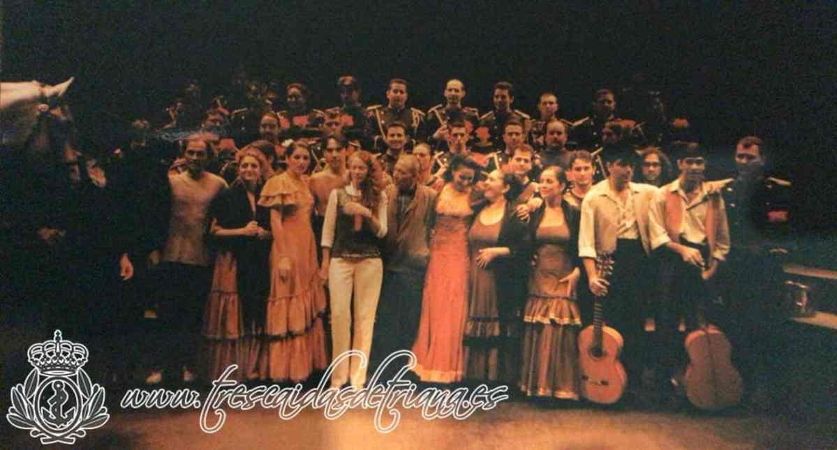 Miembros de la Banda musical de Las Tres Caídas de Triana junto a la compañía de Salvador Távora representaron Carmen el 12S / Las Tres Caídas