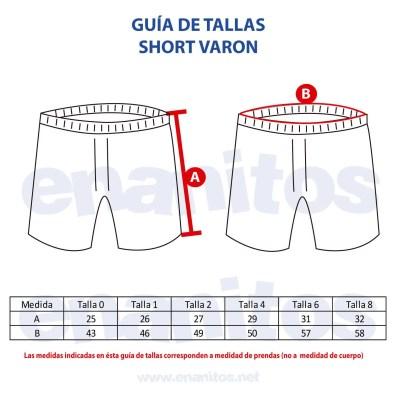 Guía de talla de Short para niños